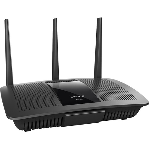 Linksys - MAX-STREAM AC1900 Dual-Band Router with 4-Port Gigabit Ethernet Switch - Black