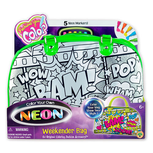 Fashions You Color Color Your Own Neon Weekender Bag