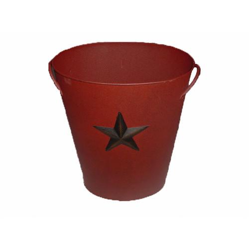 Country Star Tin Bucket