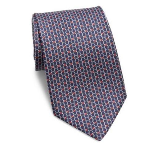 Gancini Printed Silk Tie