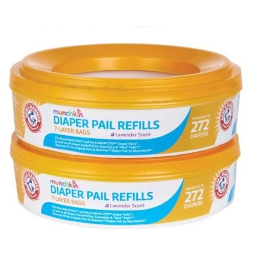 Arm & Hammer Baby 2-Pack Diaper Pail Liner Multicolored