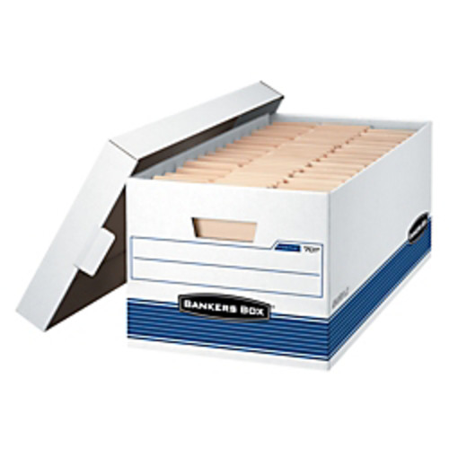 Bankers Box Stor/File 60% Recycled Storage Boxes, Lift-Off Locking Lid, 24