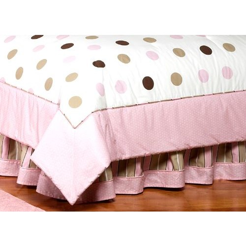 Sweet Jojo Designs Mod Dots Pink Collection Queen Bed Skirt