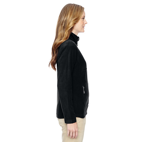 Excursion Women's 703 Black Polyester Trail Fabric-block Fleece Jacket