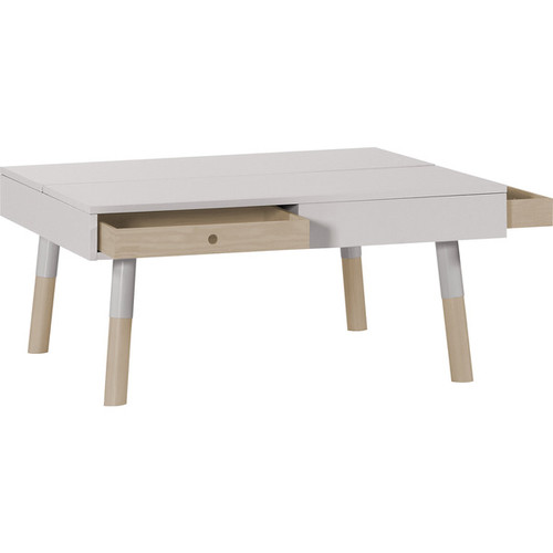 Voelkel Coffee, Console, Sofa & End Tables Lori Collection White Wood Coffee Table