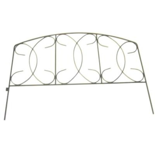 Home Gardener 18 in. Wrought Iron Scroll Fence (Case of 24)