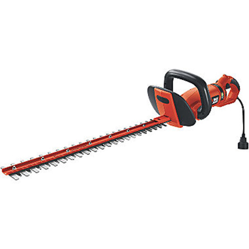 BLACK+DECKER 24 in. 3.3-Amp Corded Electric Hedge Hog Trimmer with Rotating Handle