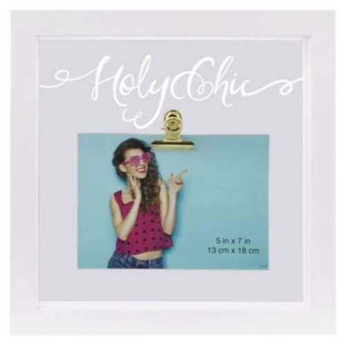 Sentiments Holy Chic Illuminated Square Float Picture Frame With Clip in White