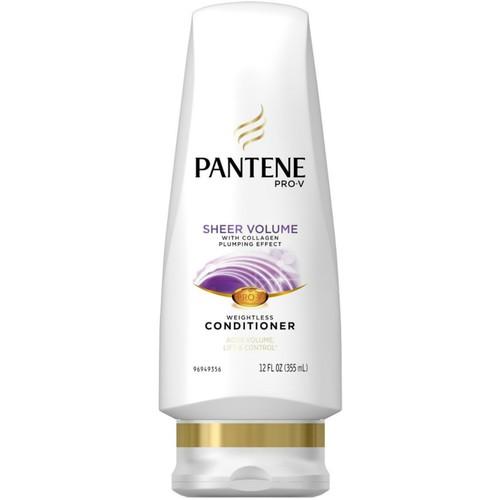 Pantene Pro-V Conditioner , Sheer Volume 12 oz (Pack of 2)