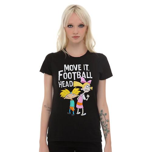 Hey Arnold! Move It Football Head Girls T-Shirt