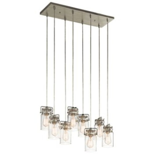 Brinley Linear Chandelier [Finish : Brushed Nickel]