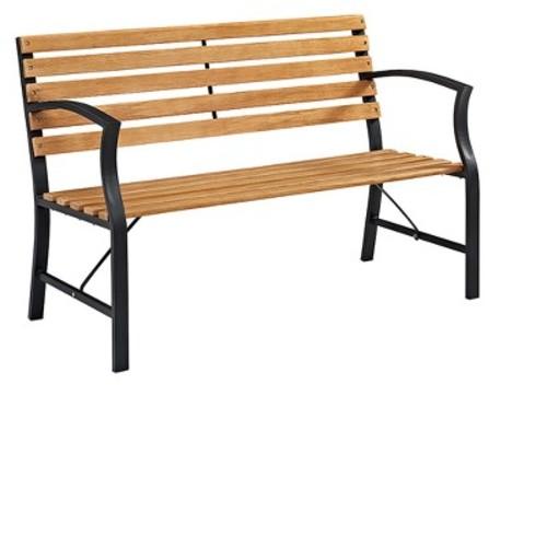 Steel Outdoor Park Bench - Brown - Saracina Home