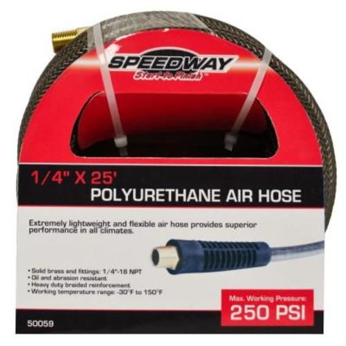 SPEEDWAY 1/4 in. x 25 ft. Lightweight Heavy-Duty Polyurethane Air Hose