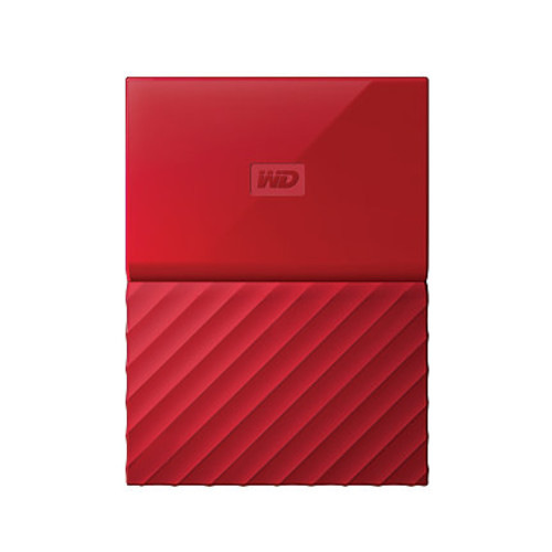 WD My Passport 3TB Portable External Hard Drive, Red