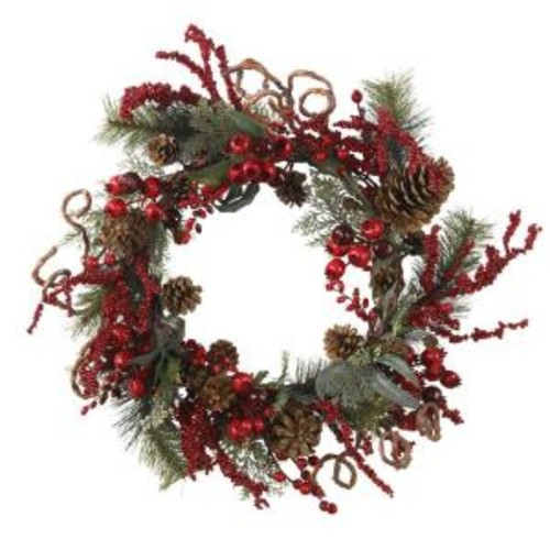 Nearly Natural 24 in. Assorted Berry Wreath