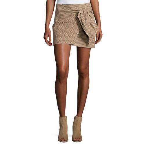 ETOILE ISABEL MARANT Ninon Plaid Mini Skirt, Beige