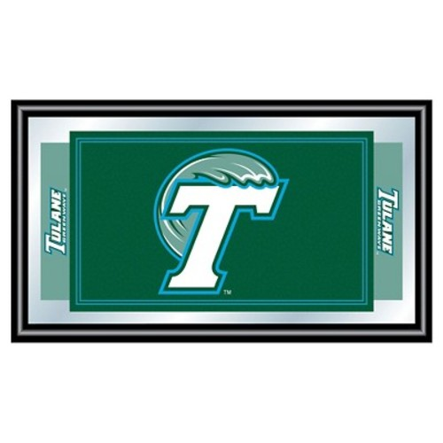 Tulane Green Wave Team Logo Wall Mirror
