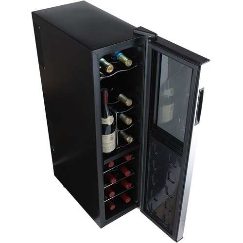 Wine Enthusiast - 18-Bottle Wine Cooler - Black