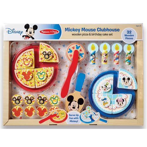 Disney's Mickey Mouse Wooden Pizza & Birthday Cake Set by Melissa & Doug