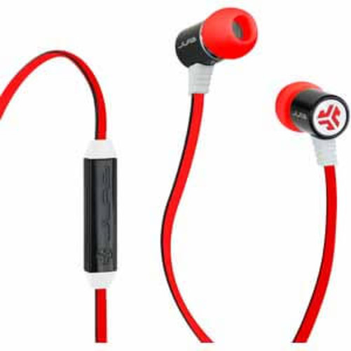JLab Bass Earbuds - Red/Black