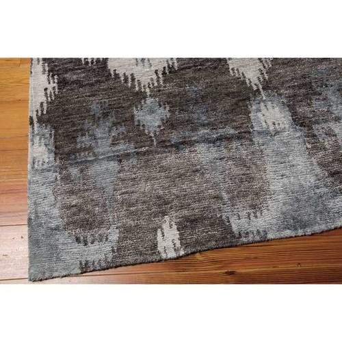 Nourison Silk Shadows Grey Rug (3'9 x 5'9)