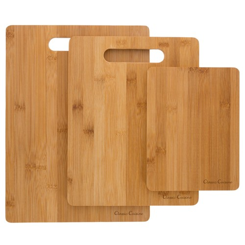 Classic Cuisine Set of 3 Bamboo Cutting Boards