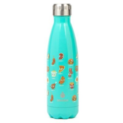 Manna Vogue 17 oz. Double Wall Stainless Water Bottle in Food