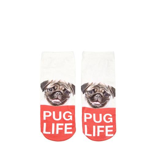 Pug Life Ankle Socks