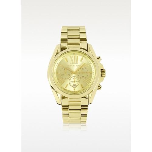 Mid-Size Two-Tone Bradshaw Chronograph Watch - Michael Kors