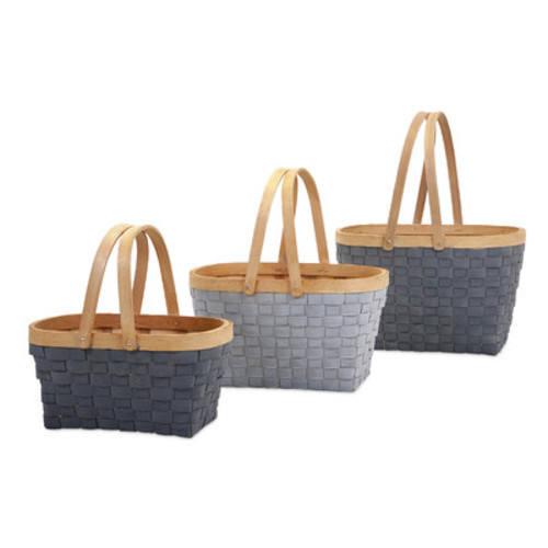 3 Piece Natural Woven Basket Set