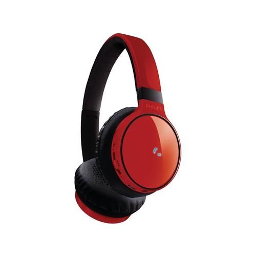Philips SHB9100 Bluetooth On-Ear Headphones - Red