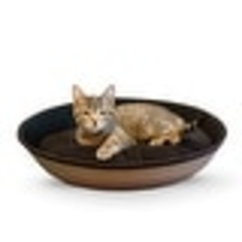 K&H Pet Products Mod Sleeper Cat Bed Small Tan / Black 18.5