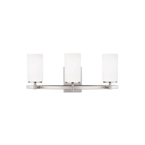 Sea Gull Lighting Alturas 3-Light Brushed Nickel Vanity Light