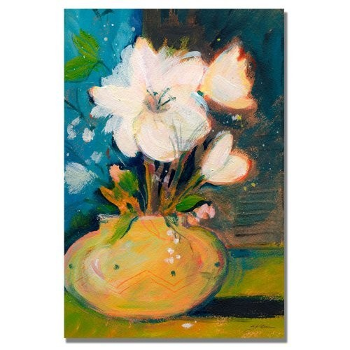 Trademark Fine Art Simplicity by Shelia Golden Canvas Wall Art, 16 by 24-Inch [16 by 24-Inch]