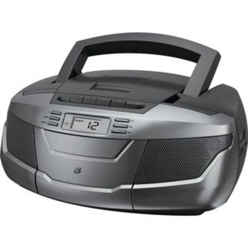 GPX Audio BCA206S CD Boom Box w/ AM/FM Radio & Cassette Player