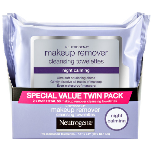 Night Calming Makeup Remover Towelettes Twin Pack