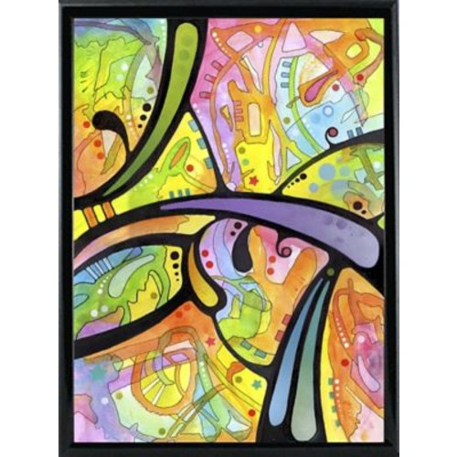 East Urban Home 'Abstract' Graphic Art Print; Black Metal Framed