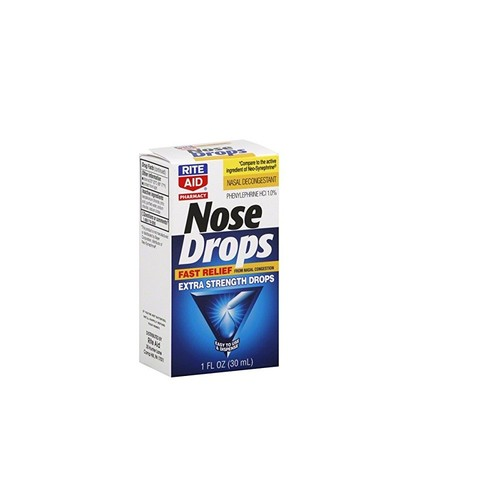 Rite Aid Pharmacy Nose Drops, Extra Strength, 1 fl oz (30 ml), 1 Count