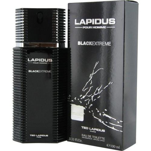 Ted Lapidus Lapidus Pour Homme Black Extreme Eau de Toilette Spray for Men, 3.4 Ounce [3.3 oz]