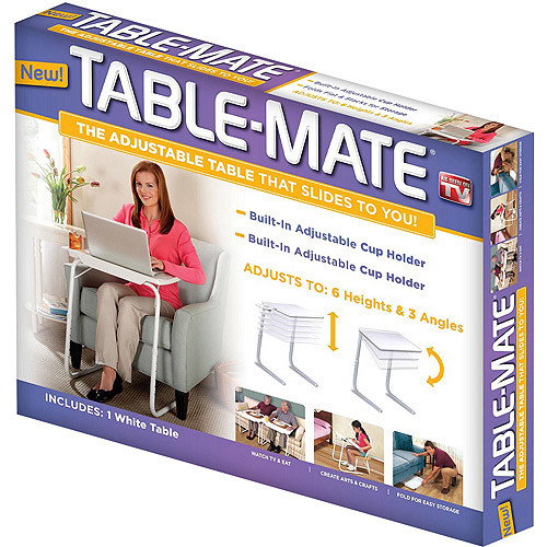 Table-Mate Folding Table (White): Home & Kitchen