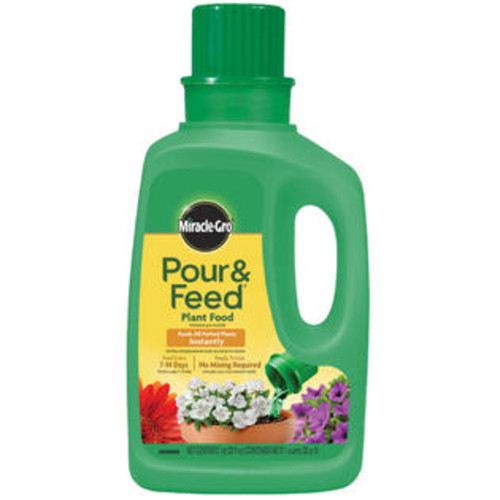 Miracle-Gro 1006002 Pour & Feed Liquid Plant Food, 02-0.02-0.02, 1 Qt