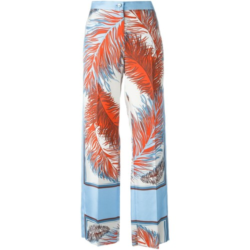 EMILIO PUCCI Feather Print Trousers