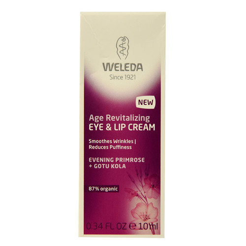 Weleda Age Revitalizing Eye & Lip Cream Evening Primrose and Gotu Kola -- 0.34 fl oz