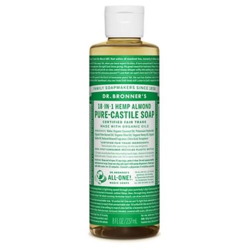 Dr. Bronner's Almond Pure-Castile Liquid Soap - 8oz