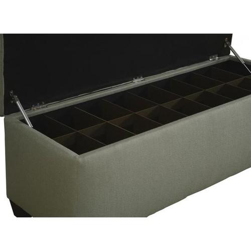 The Sole Secret Shoe Storage Bench - Candice Seafoam [option : Large]