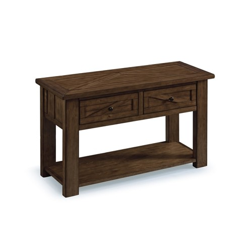 Magnussen Home Furnishings Coffee, Console, Sofa & End Tables Fraser Farmhouse Rustic Pine Storage Console Table