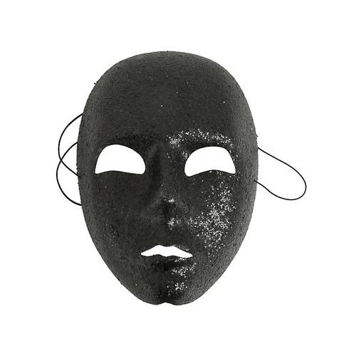 Black Glitter Face Mask