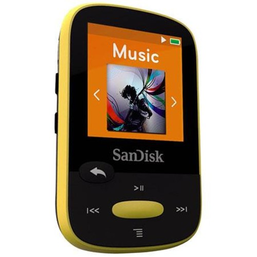 SanDisk 8GB Clip Sport MP3 Player, 1.44 LCD Display, Yellow SDMX24-008G-A46Y