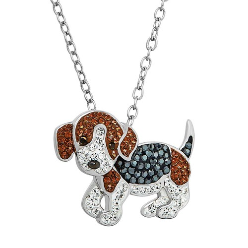 Animal Planet Sterling Silver Crystal Beagle Pendant