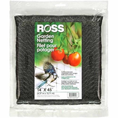 Ross Garden Netting (Multi-Use Netting for Use Around Yard and Garden) Black Mesh Plastic Netting, 14 feet x 45 feet